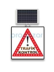 MFK - Mfk 9629 Ledli Güneş Enerjili Dikkat Trafik Kontrol Tabelası