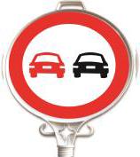 Üstün - Öndeki Taşıtı Geçmek Yasaktır Uyarı Levhası UT 2906
