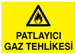 Propazar - Patlayıcı Gaz Tehlikesi İş Güvenliği Levhası - Tabelası