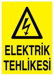 Propazar - PVC Elektrik Tehlikesi Levhası - Sınırlı Stok Özel Fiyat
