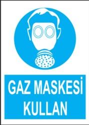 Propazar - PVC Gaz Maskesi Kullan Levhası - Sınırlı Stok Özel Fiyat