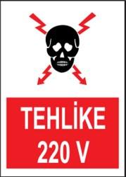 Propazar - PVC Tehlike 220V Levhası - Sınırlı Stok Özel Fiyat