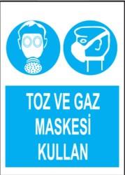 Propazar - PVC Toz ve Gaz Maskesi Kullan Levhası - Sınırlı Stok Özel Fiyat