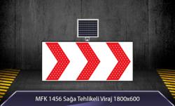 MFK - Sağa Tehlikeli Viraj Akülü Solar Levha