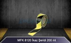 MFK - Sarı Siyah İkaz Şeridi 200 mt MFK8120
