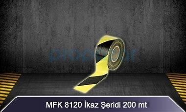 Sarı Siyah İkaz Şeridi 200 mt MFK8120