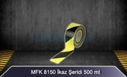 MFK - Sarı Siyah İkaz Şeridi 500 mt MFK8150