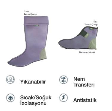 Soğuk İklim Termal Çorap - Kısa Boy