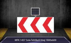 MFK - Sola Tehlikeli Viraj Akülü Solar Levha