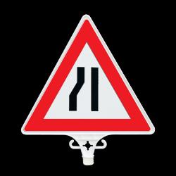 Üstün - Soldan Daralan Yol Uyarı Levhası UT 2803