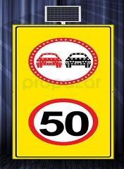 MFK - Sollama Yasak Led′li Hız Limiti 50km/h Led′li Sarı Zemin MFK1441