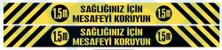 Propazar - Sosyal Mesafe Yer Zemin Yapıştırma Sticker Etiket
