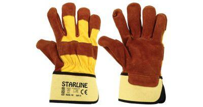 Starline E-025-SR Deri İnşaat Eldiveni
