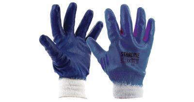Starline E-201 Mavi Tam Kaplı Nitril İş Eldiveni