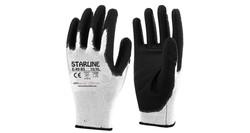 Starline - Starline E-49 Siyah Beyaz PU Eldiven