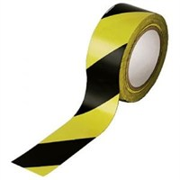 Starline - Starline Tek Taraflı Emniyet Şeridi 500 Metre Sarı Siyah