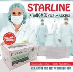 Starline - Tekli Poşetli Meltblown 3 Katlı En İyi Kalite Maske
