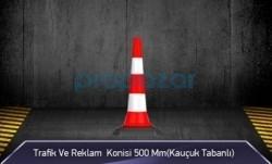 MFK - Trafik ve Reklam Konisi 500 mm ( Kauçuk Tabanlı ) MFK3550