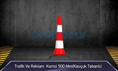 Trafik ve Reklam Konisi 500 mm ( Kauçuk Tabanlı ) MFK3550
