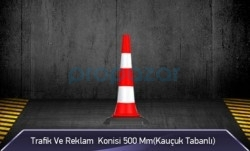 MFK - Trafik ve Reklam Konisi 500 mm ( Kauçuk Tabanlı )
