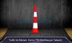 MFK - Trafik ve Reklam Konisi 750 mm ( Kauçuk Tabanlı ) MFK3575