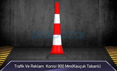 Trafik ve Reklam Konisi 900 mm ( Kauçuk Tabanlı )