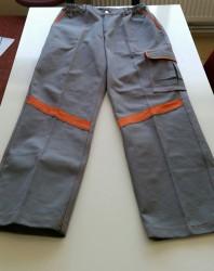 Propazar - Turuncu Reflektörlü Gri Panoma Kumaş İş Pantolonu