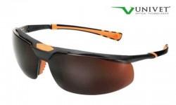 Univet - Univet 5X3.03.33.09 Amber Sarı Koruyucu İş Gözlüğü