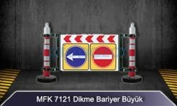 MFK - Uyarı Levhalı Dikme Bariyer Büyük MFK7121