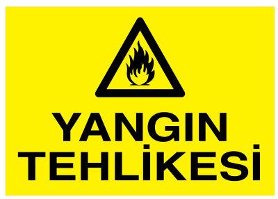 Yangın Tehlikesi İş Güvenliği Levhası - Tabelası