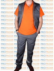 Propazar - Yazlık Gri Yelek - İş Yeleği - FSYYHCP03T